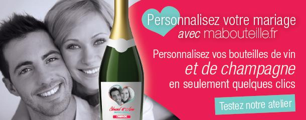 Bouteille personnalisée (avec photo, vin et champagne)